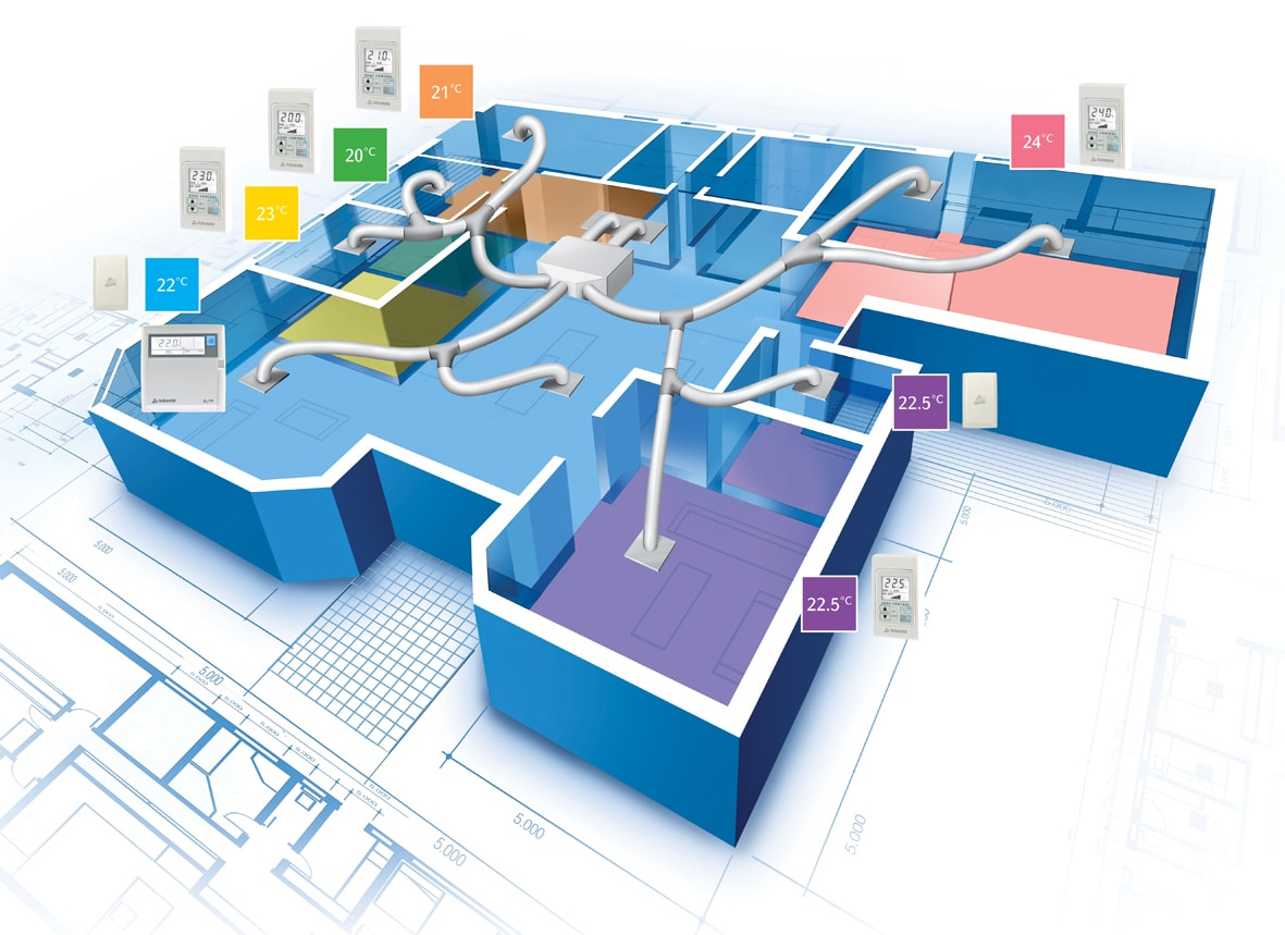 Impianto di condizionamento canalizzato riscaldamento elettrico - Sistemi di riscaldamento casa ...